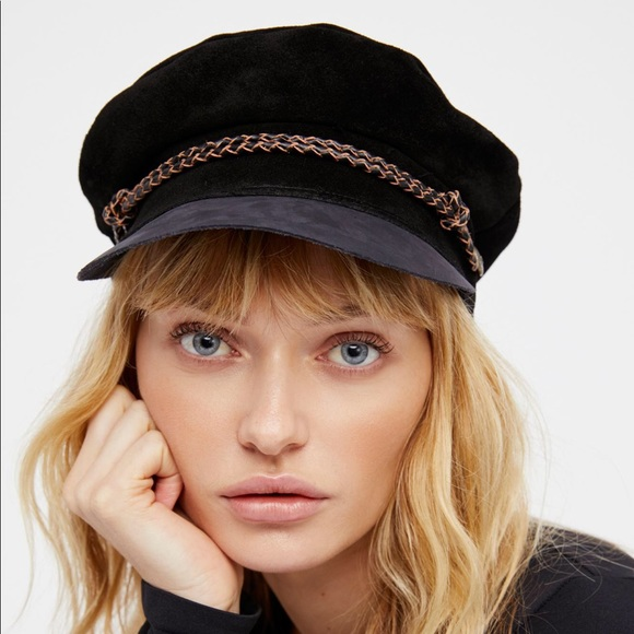 bb36a4a1863 Free People Accessories - Brixton x FP Kayla Leather Lieutenant Hat